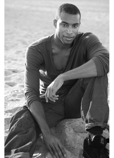 Brandon Claybon fashion model single grid slide 2