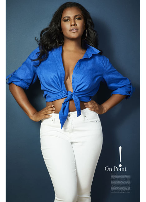Brittany Winston plus curve model kim dawson agency single grid slide 5