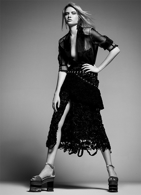 Claire Vanbeber fashion model kim dawson agency single grid slide 7
