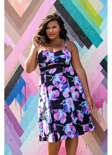 Brittany Winston fashion curve plus model kim dawson agency single grid slide 12