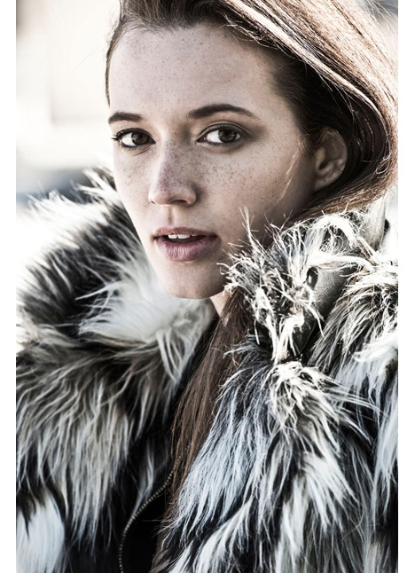 Emily Deaver fashion commercial print runway model on camera actress single grid slide 21