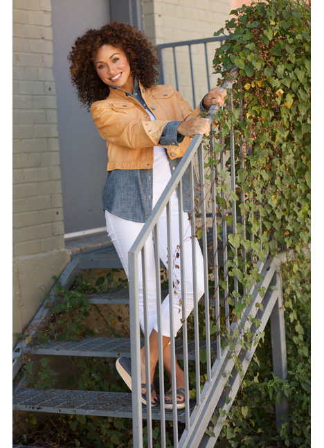 Tifany Cheatham commercial print model on camera actress single grid slide 2