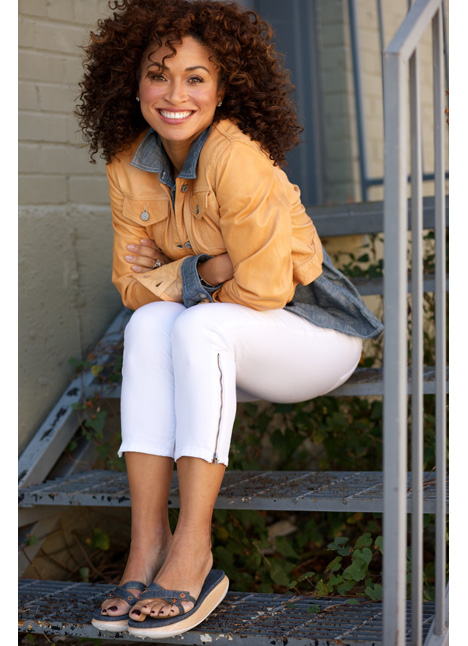 Tifany Cheatham commercial print model on camera actress single grid slide 1